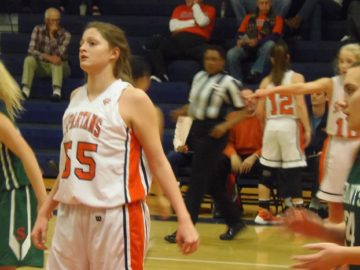 Sophomore Alyssa Morroni contributed 9 points and 7 rebounds.