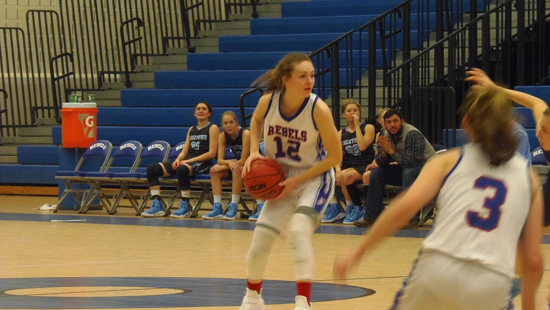 Rebels senior Karah Murphree looks for the cutters in Fairfax's win.