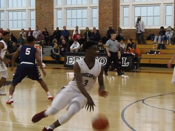 Episcopal's George Mawanda-Kalema prepares to attack the basket. He had 21 points to lead the Maroon.