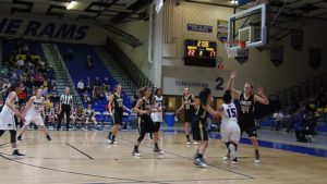 Battlefield's Ahlia Moone attacks the rim. Moone led the Bobcats with 18 points.