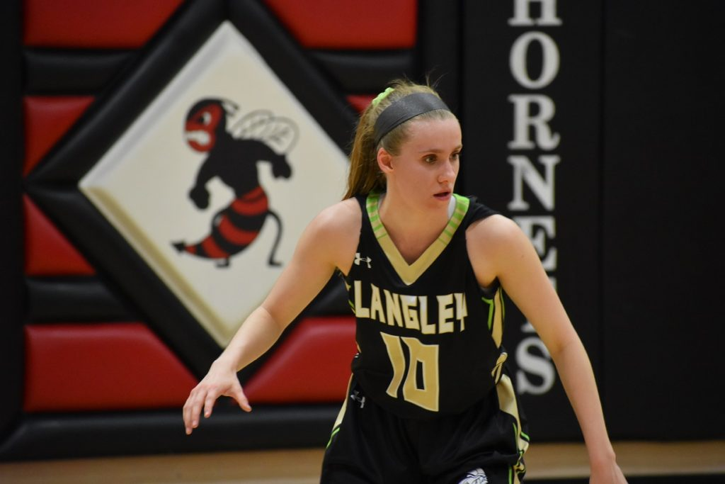 Langley guard/forward Lauren Maloney led all scorers with 17 points.