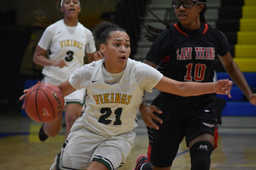 Woodbridge senior Paris McBride had 10 points, five rebounds, and five assists.