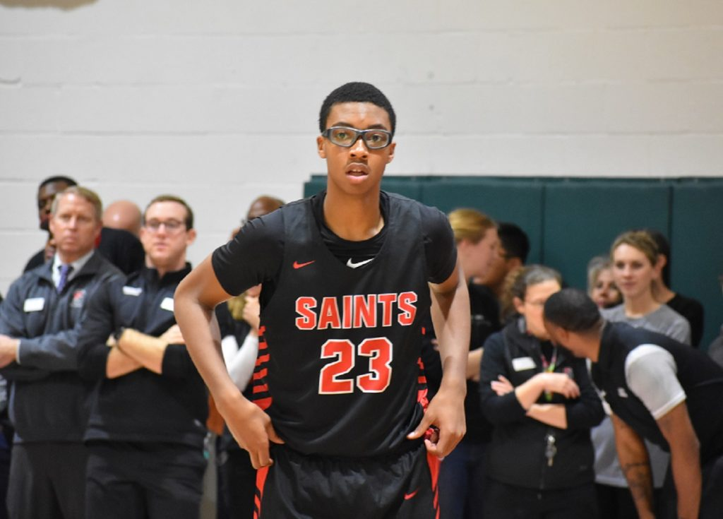 """6'10"""" Andre Screen continues to emerge as a dominant force for the Saints."""