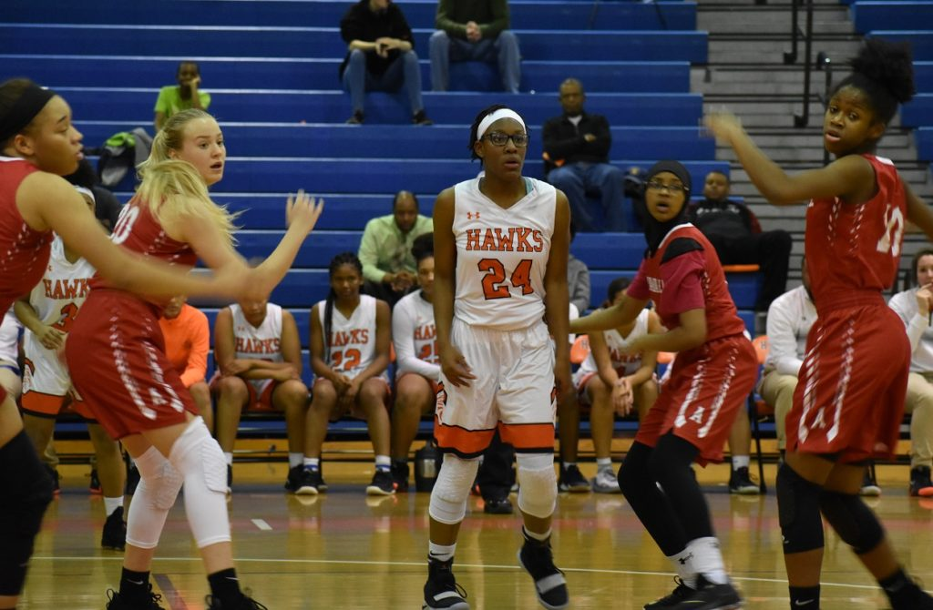Sophomore Imani Gillen grabbed 15 rebounds as the Hawks pulled down 51 total.