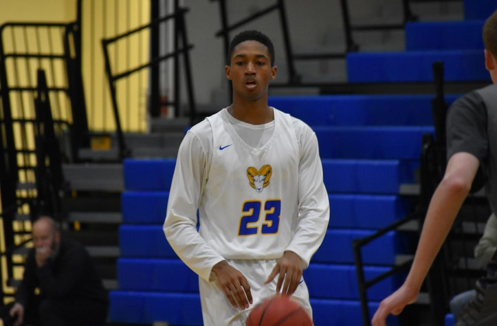 Robinson senior Drew Pitter kept the Rams close in the first half.