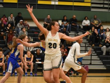 Tall Vanessa Laumbach is one of many, many good players for Woodbridge.