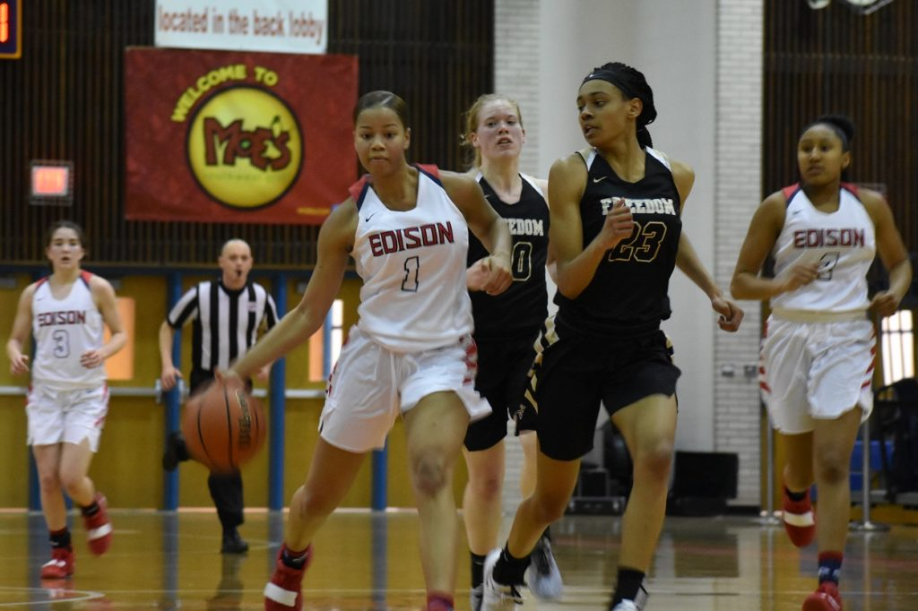 Edison's Carole Miller contributed 14 points and nine boards in the victory.