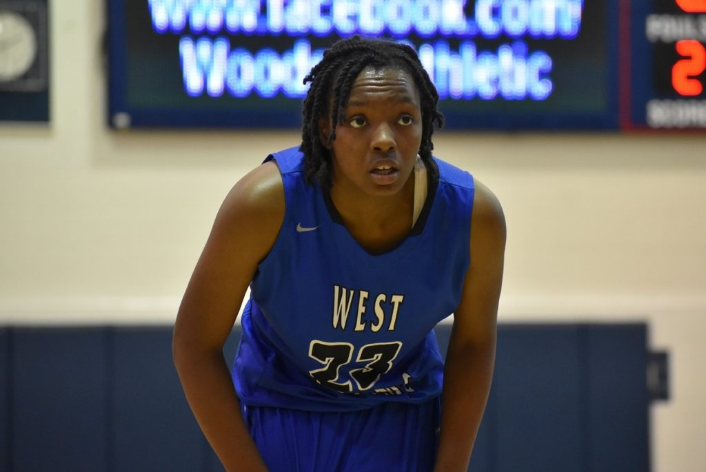 West Potomac's Ambria Redfearn led the Wolverines in scoring.