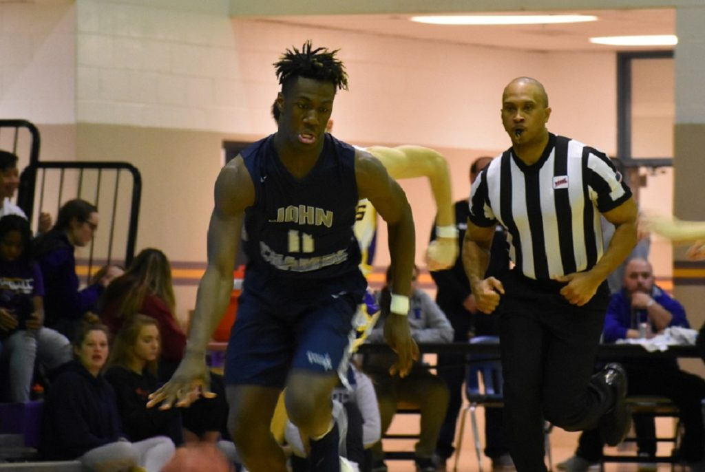 Champe's Tyler Savage is an athletic, strong wing/guard.
