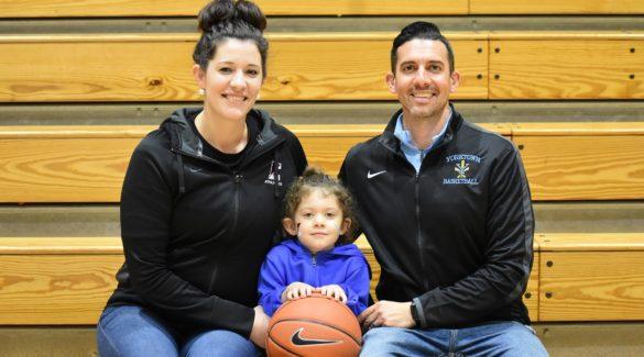 Katrina Reed, daughter Annalisa, and Joe Reed are the strong team behind two NOVA basketball teams.