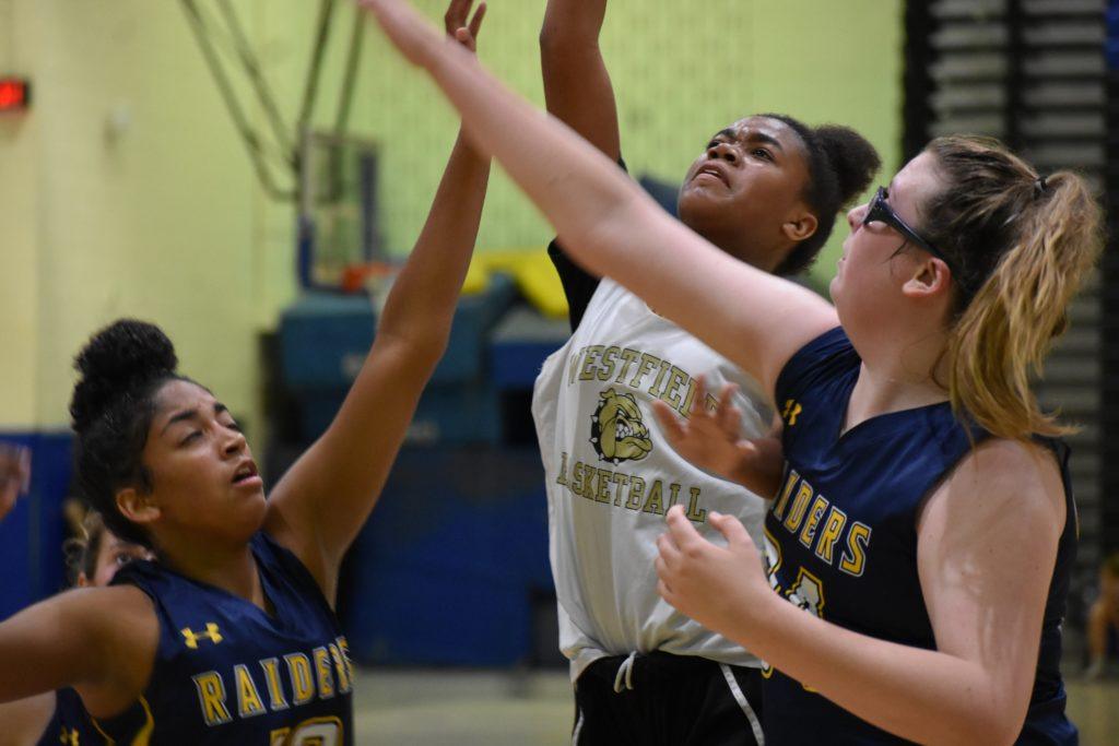 Westfield sophomore Brooke Reed will be tough to stop near the hoop.