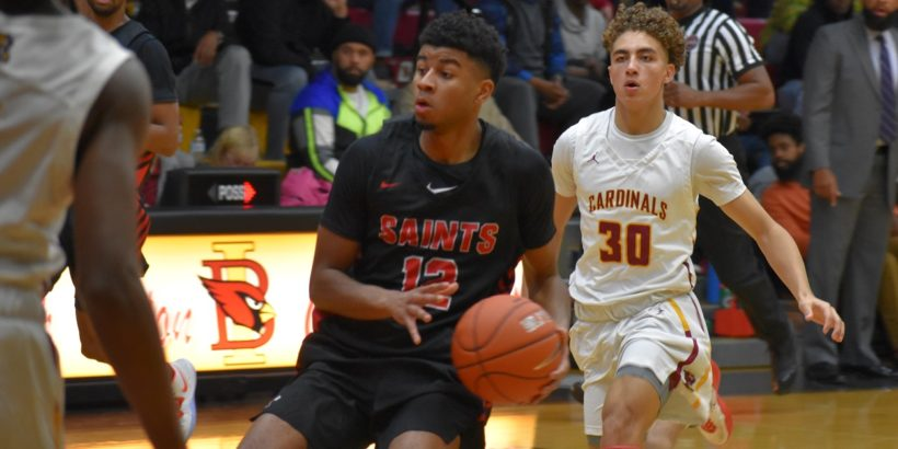 Senior guard Jared Cross, who has signed with Army, led the Saints with 16 points.