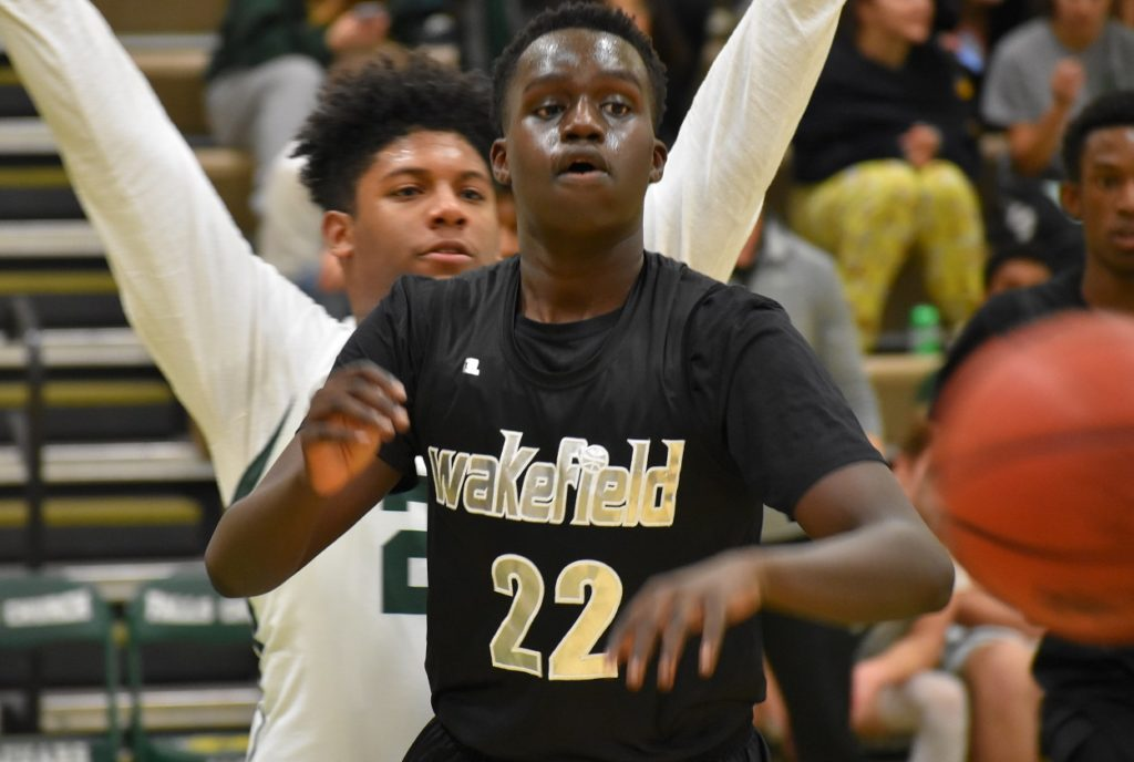 """6'6"""" Wakefield sophomore Liech Kong contributed 12 key points off the bench."""