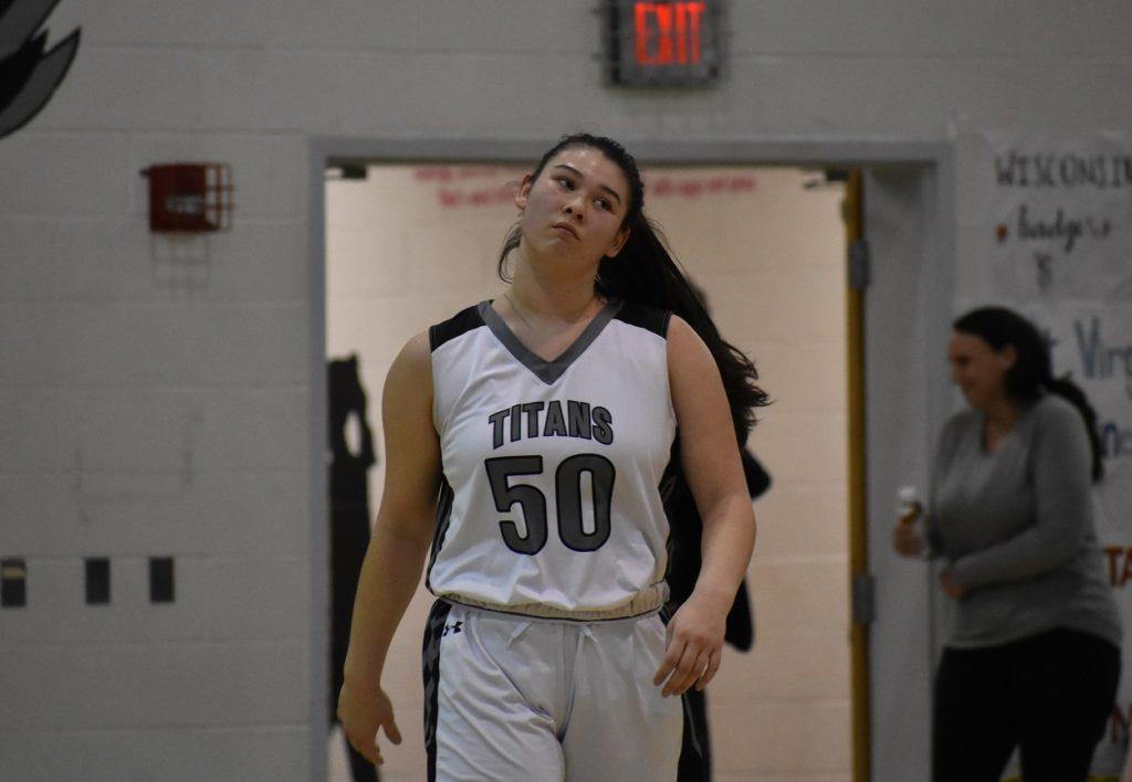 Junior center Lauren Brokken delivered 15 boards for the Titans.