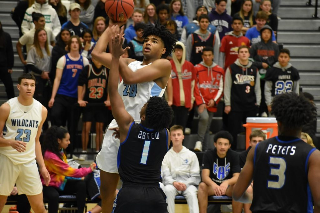 Centreville's Mekhai Washington paced the Wildcats with 16 points. (novahoops.com file photo)