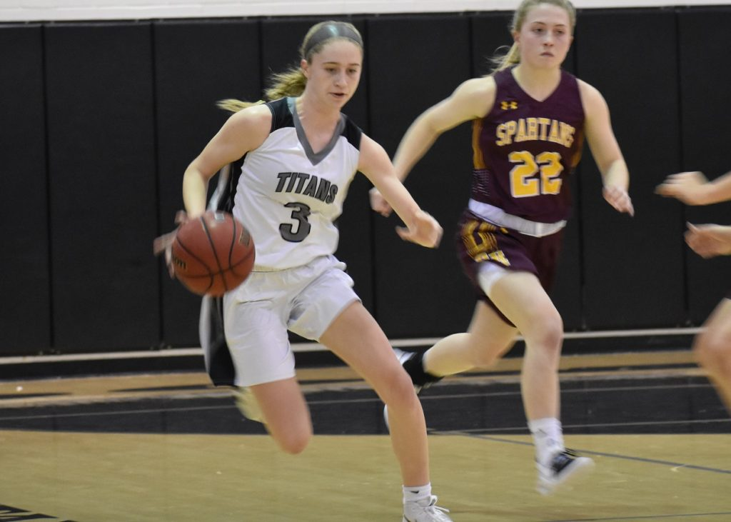 Sophomore Bailey Vann had eight points and six boards in the second half.