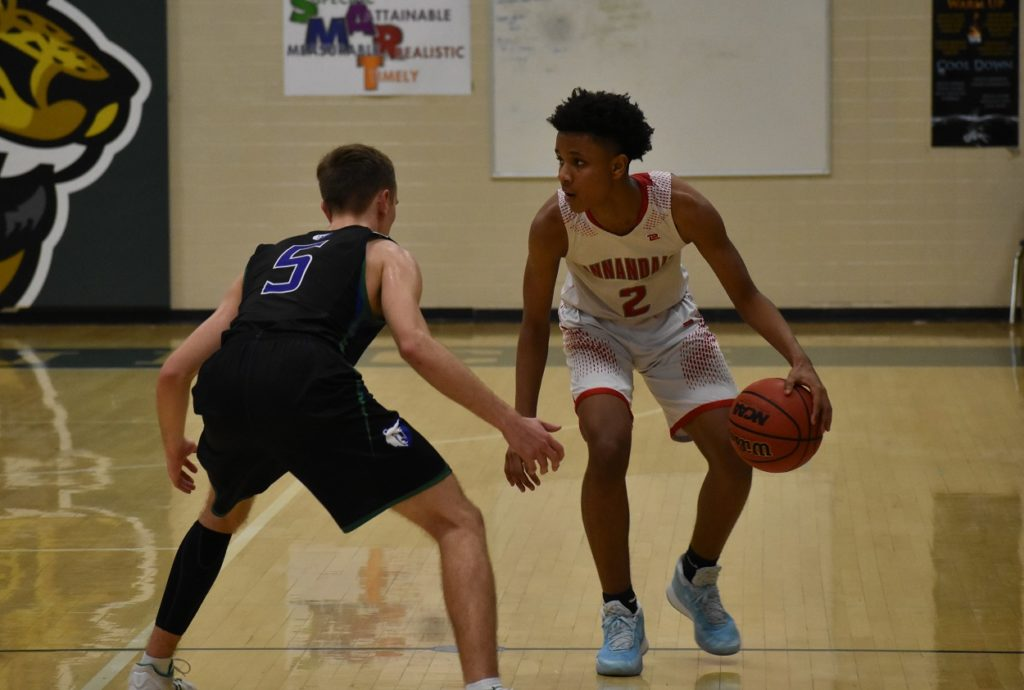 Defending Annandale's John Awoke is difficult, because he can change directions so quickly.