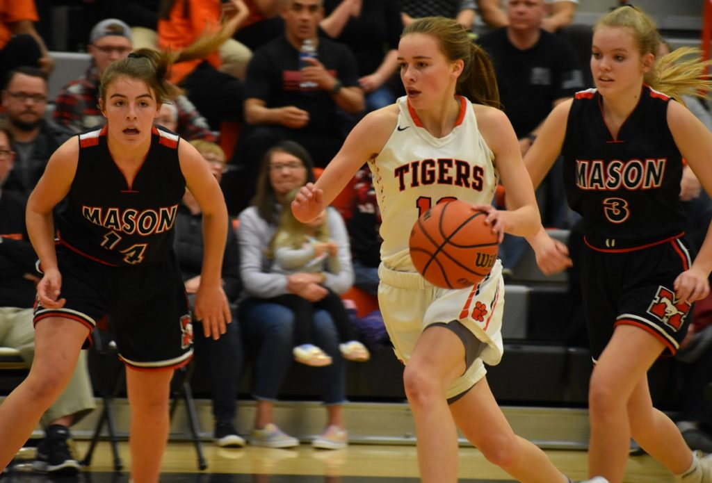 Brentsville's Alden Yergey has the ability to keep defenders off-balance with her ball-handling ability.