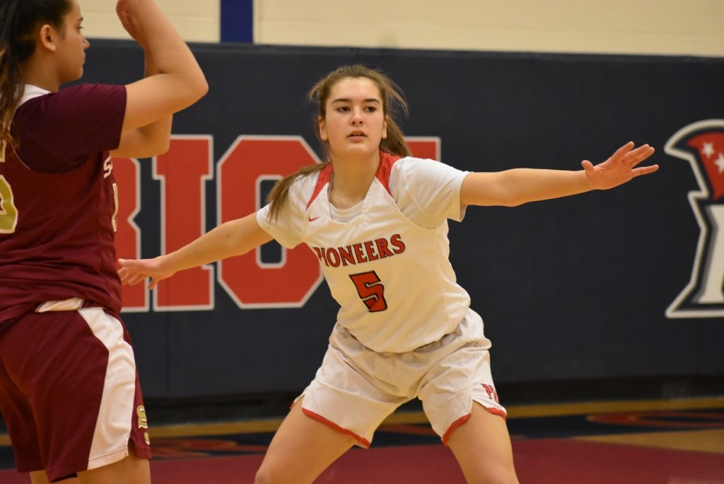 The Pioneers' Caitlin Blackman is a do-everything guard who thinks team first.