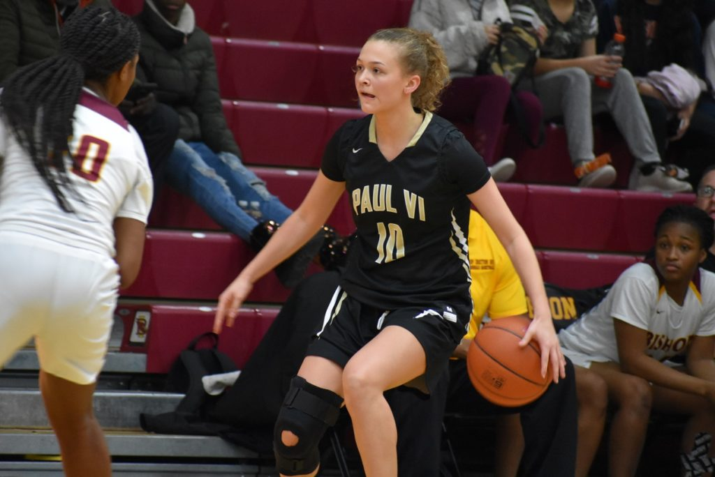 Paul VI's Isabella Perkins has a beautiful shooting stroke, and get impact a game with her defense.