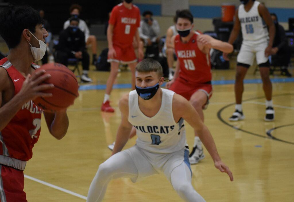 Centreville's Chris Kuzemka returned to action with a game-high 16 points.