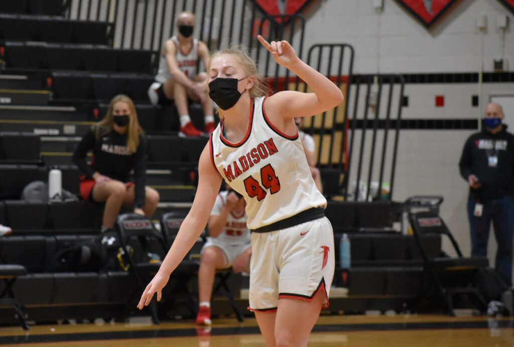 Madison junior Kathryn Koshuta scored 16 points, as Madison staked its early claim to #1.