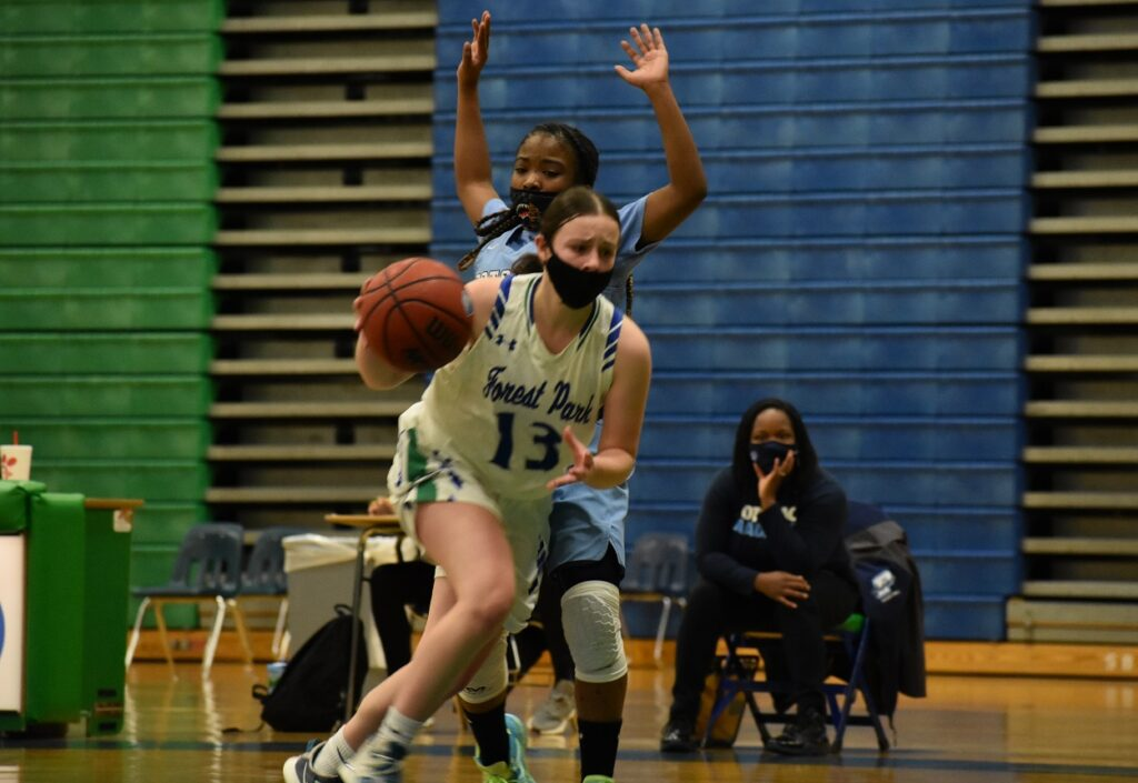Forest Park's Lauren Palmateer scored eight of her 10 points in the second half, including two threes.