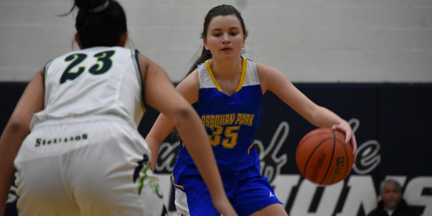 OP standout guard Maddie Scarborough will play at Sister Jean's school next season.
